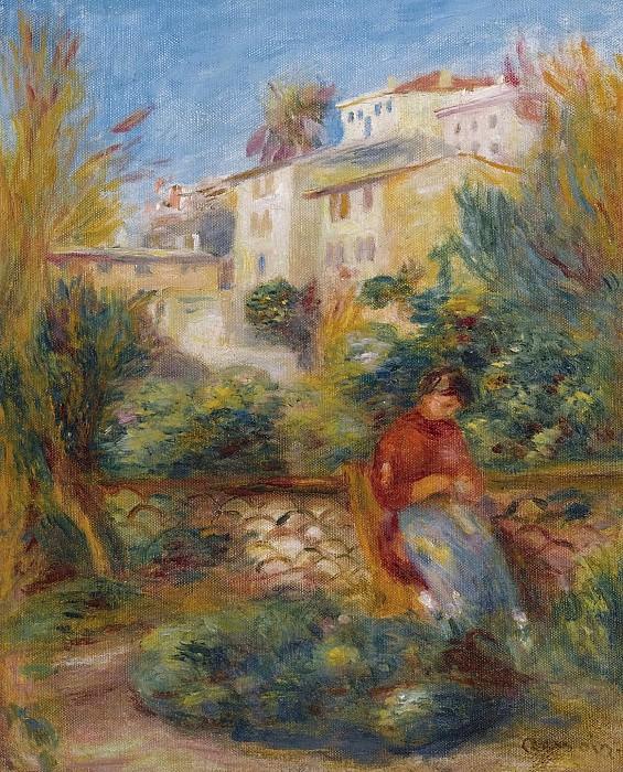Pierre Auguste Renoir - The Terrace at Cagnes, 1908. Sotheby's