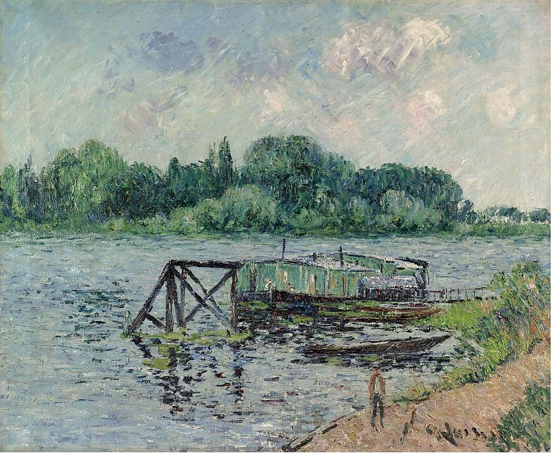 Gustave Loiseau - The Laun Place on the Seine at Herblay, 1906. Картины с аукционов Sotheby's