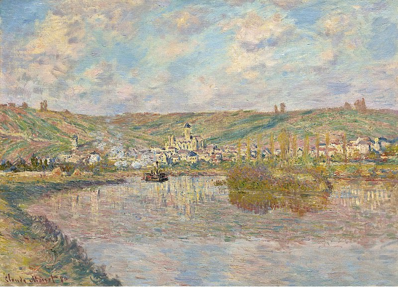 Claude Monet - Late Afrternoon, Vetheuil, 1880. Sotheby's
