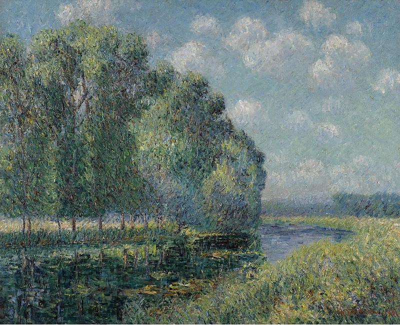 Gustave Loiseau - The Bena of the Eure, 1904. Sotheby's