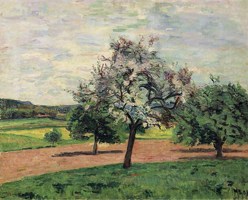 Armand Guillaumin - Apple Trees Blooming, Ile-de-France, 1887. Sotheby's