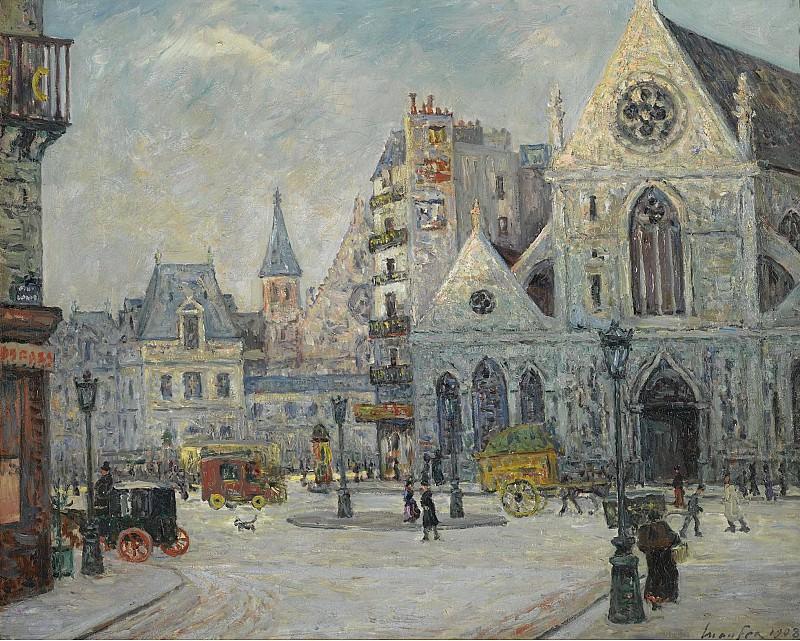 Maxime Maufra - The Church of Saint-Nicolas des Champs, Saint-Martin Street, Paris, 1908. Sotheby's