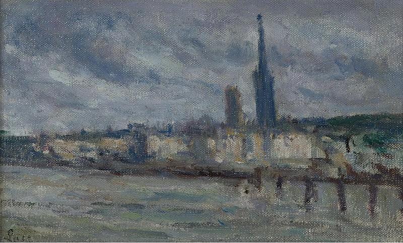 Люс, Максимильен - The Moorages Rouen, 1920. Картины с аукционов Sotheby's