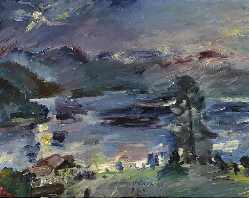 Lovis Corinth - Walchensee, Rising Moon, 1922. Sotheby's