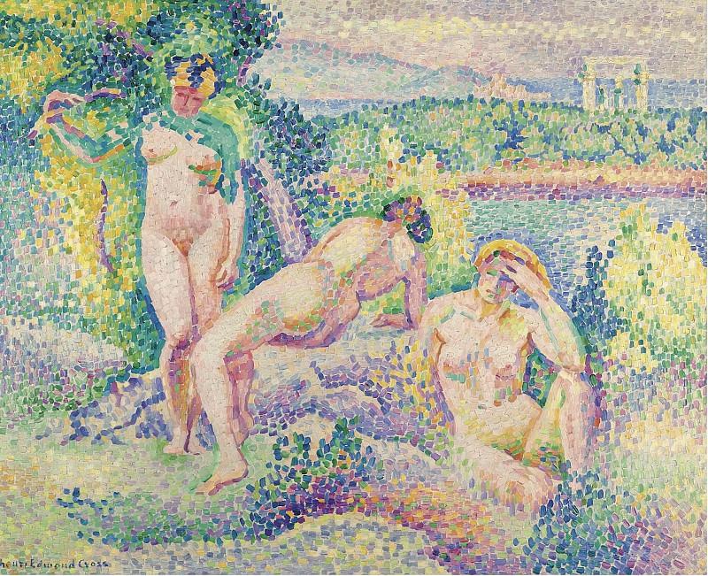 Henri Edmond Cross - The Nymphs, 1906. Sotheby's