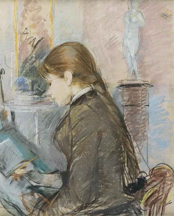 Berthe Morisot - Paule Gobillard Drawing, 1886. Sotheby's