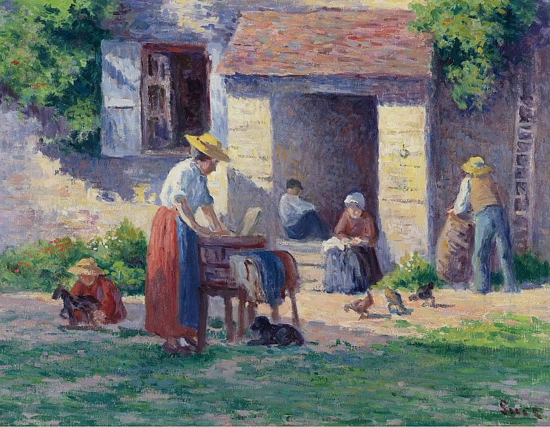 Maximilien Luce - The Farm at Bessy-sur-Cure, 1906-07. Sotheby's
