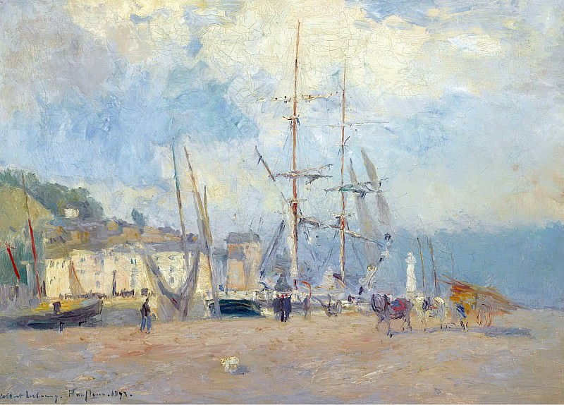 Albert Lebourg - At the Port at Honfleur, 1893. Sotheby's