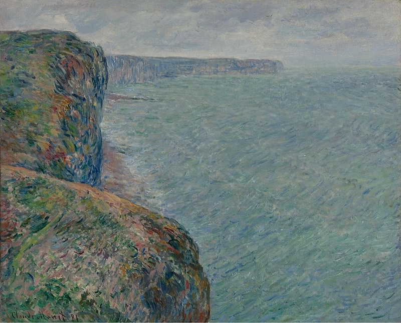 Claude Monet - View to the Sea from the Cliffs, 1881. Sotheby's