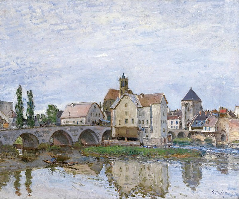 Alfred Sisley - Moret-sur-Loing, Grey Weather, 1892. Sotheby's
