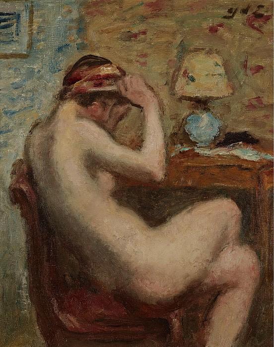 Georges dEspagnat - Seated Female Nude, 1920s. Картины с аукционов Sotheby's