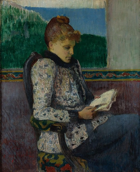 Henry Moret - Reading by the Window, 1892. Sotheby's