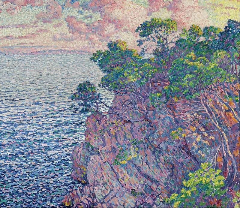 Theo van Rysselberghe - La Pointe du Rossignol (Cap Layet), 1905. Sotheby's