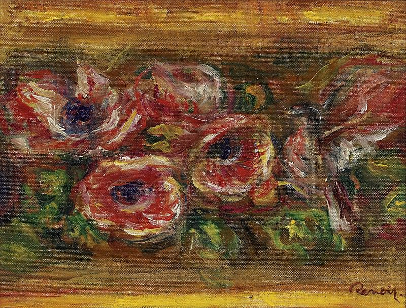Pierre Auguste Renoir - Anemones 02. Картины с аукционов Sotheby's