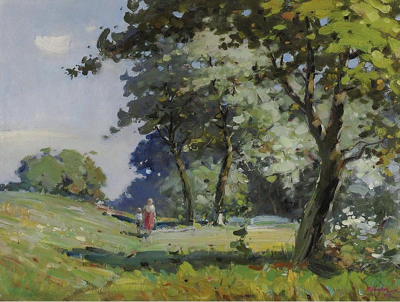 Vasili Svarog - Landscape, 1932. Картины с аукционов Sotheby's