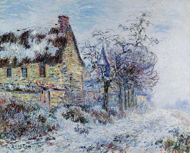 Gustave Loiseau - Snow Effect at Porte-Joie, 1901. Sotheby's