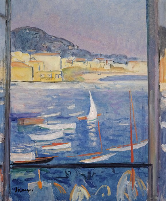 Henri Lebasque - Villefranche-sur-Mer, Window Viewing on the Sea, 1926. Sotheby's