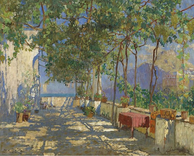 Constantin Gorbatov - Patio in Capri, 1925. Sotheby's