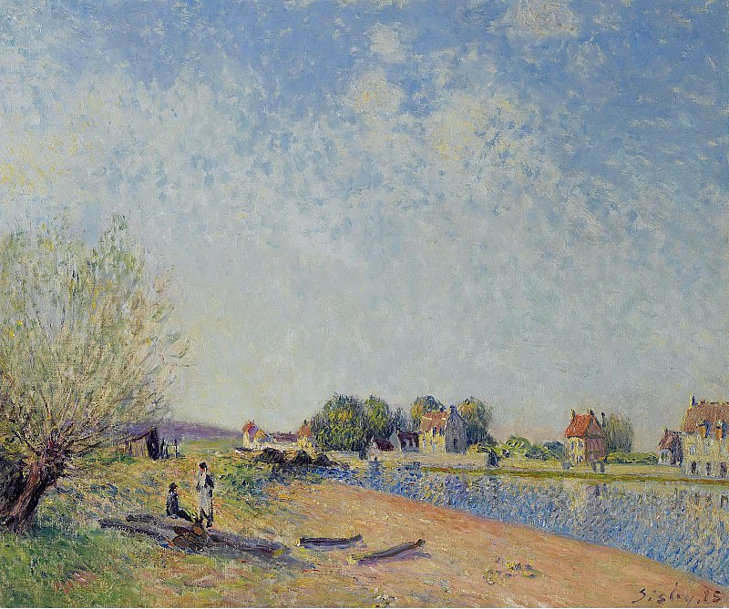 Alfred Sisley - The Channel of Loing at Saint-Mammes, 1885. Sotheby's