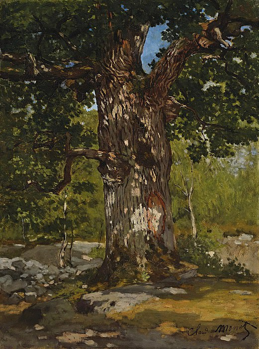 Claude Monet - The Bodmer Oak, 1865. Sotheby's