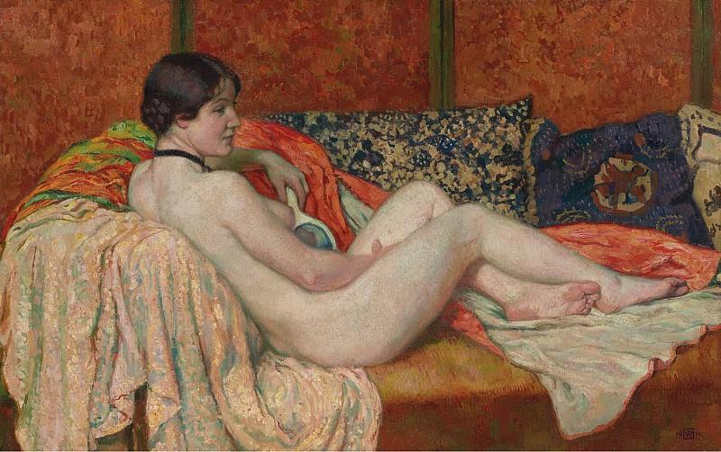 Theo van Rysselberghe - Resting Nude, 1914. Sotheby's