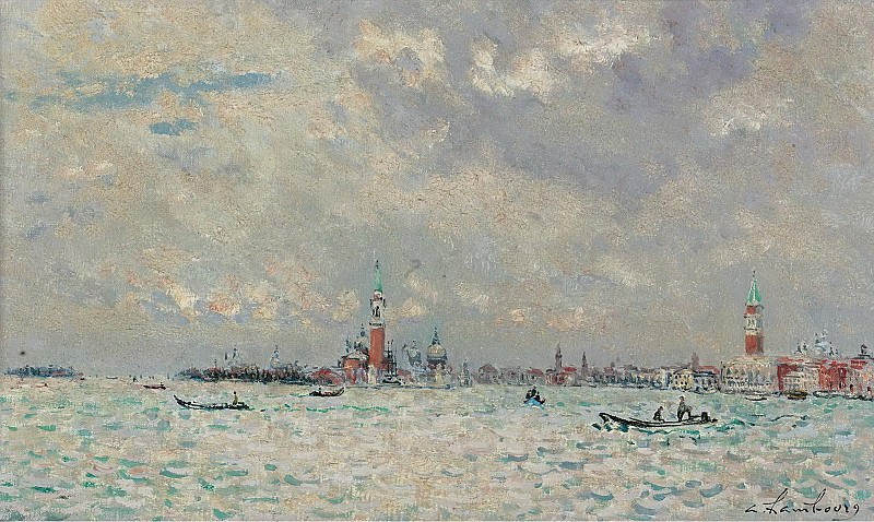 Andre Hambourg - Grey Weather at Venice, 1969. Sotheby's