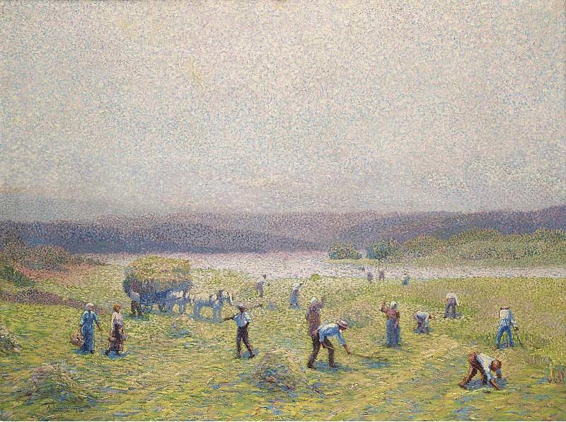 Andre Leveille - The Dryers of Hay, 1911. Картины с аукционов Sotheby's