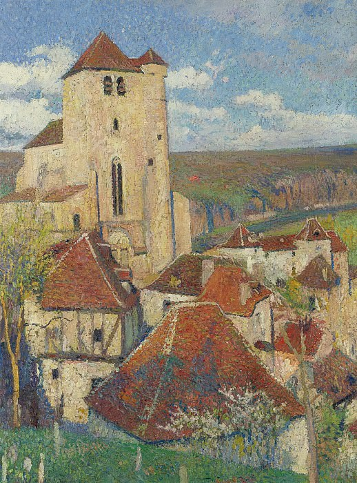 Henri Martin - The Village of Saint-Cirq-Lapopie. Картины с аукционов Sotheby's