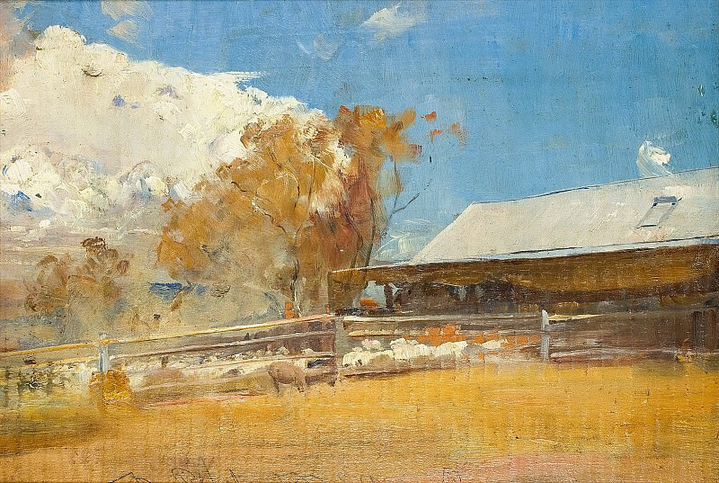 Tom Roberts - Shearing Shed, Newstead, 1894. Sotheby's