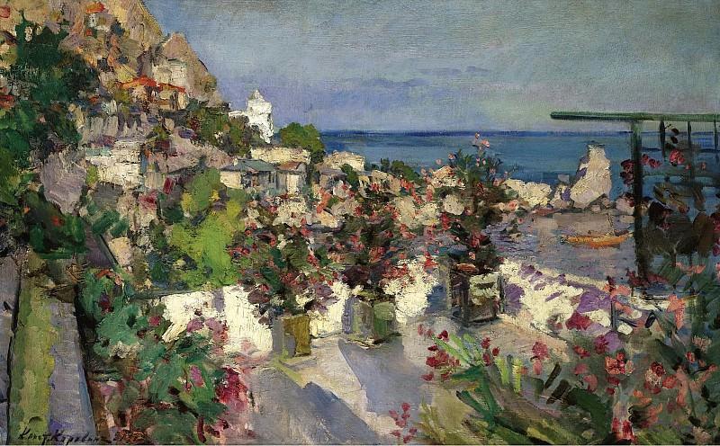 Constantin Korovin - View from the Terrace, Gurzuf, 1912. Картины с аукционов Sotheby's