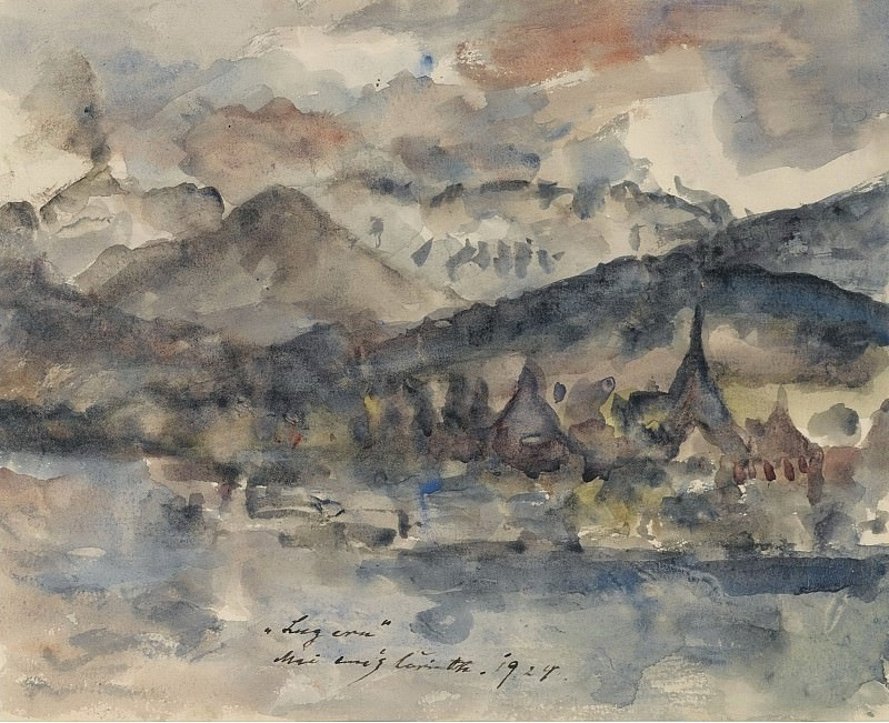 Lovis Corinth - View of Lucerne, 1924. Sotheby's
