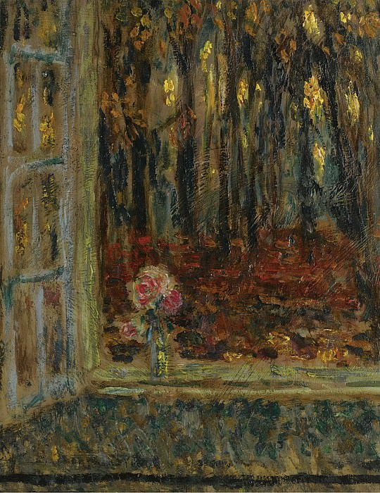 Henri Le Sidaner - The Window in Autumn, 1916. Sotheby's
