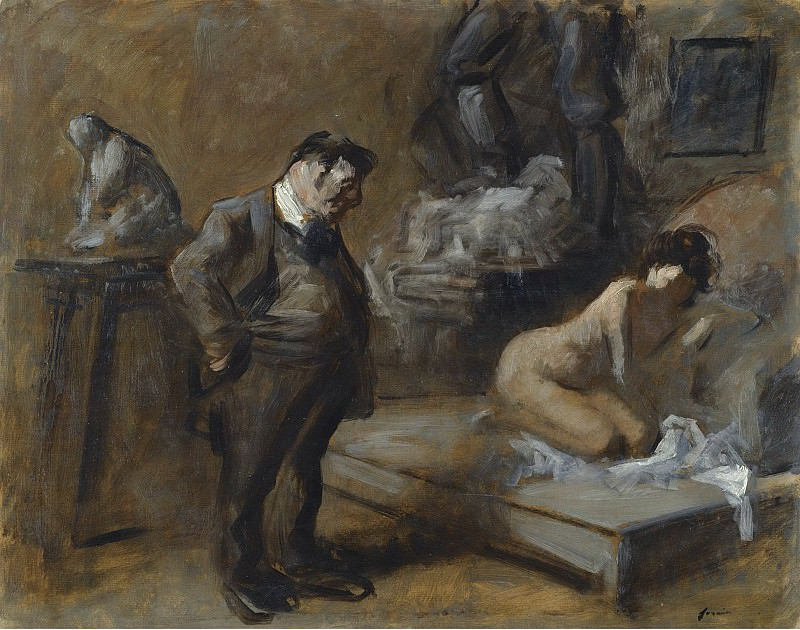 Jean-Louis Forain - The Artists Studio, 1910. Картины с аукционов Sotheby's