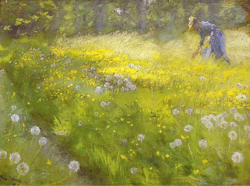 Peder Severin Kroyer - Marie Kroyer in the Garden at Skagen, 1892. Sotheby's