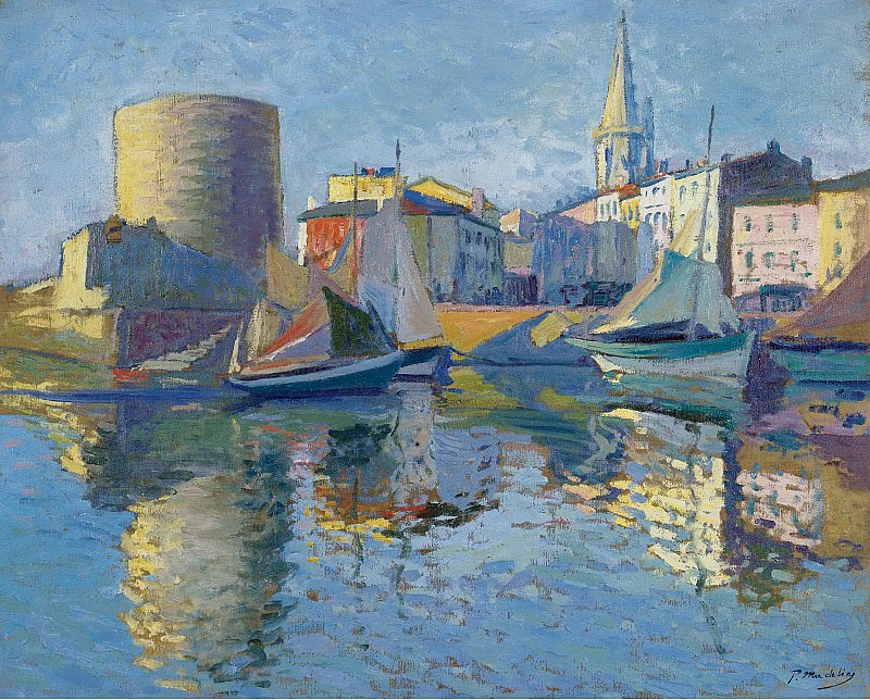 Paul Madeline - La Roshelle - View on the Port by the Angle. Sotheby's