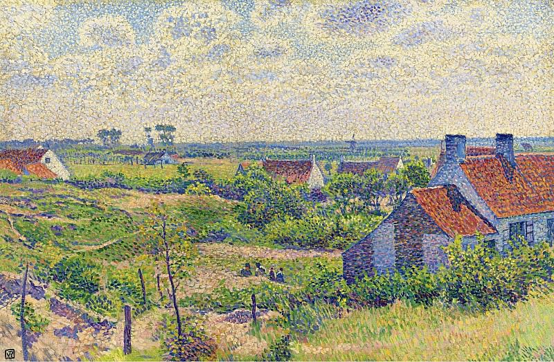 Theo van Rysselberghe - Landscape with Houses, 1894. Sotheby's