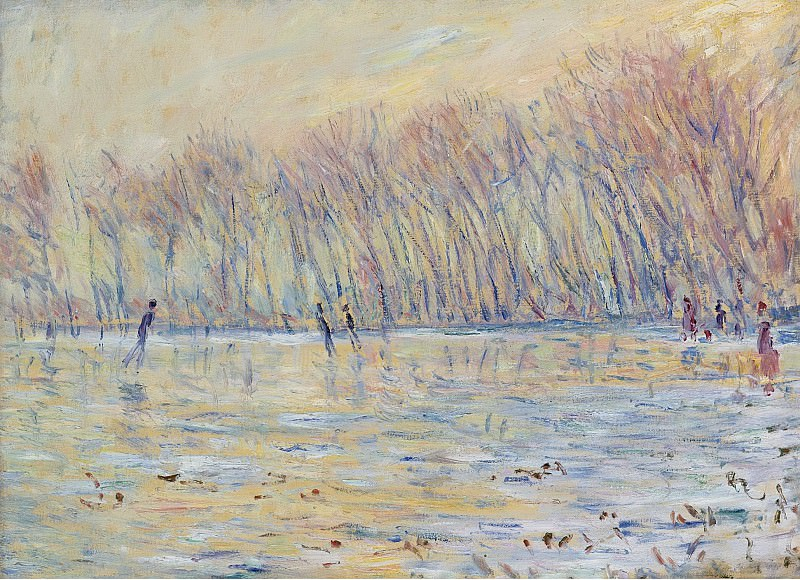 Claude Monet - The Skaters at Giverny, 1899. Sotheby's