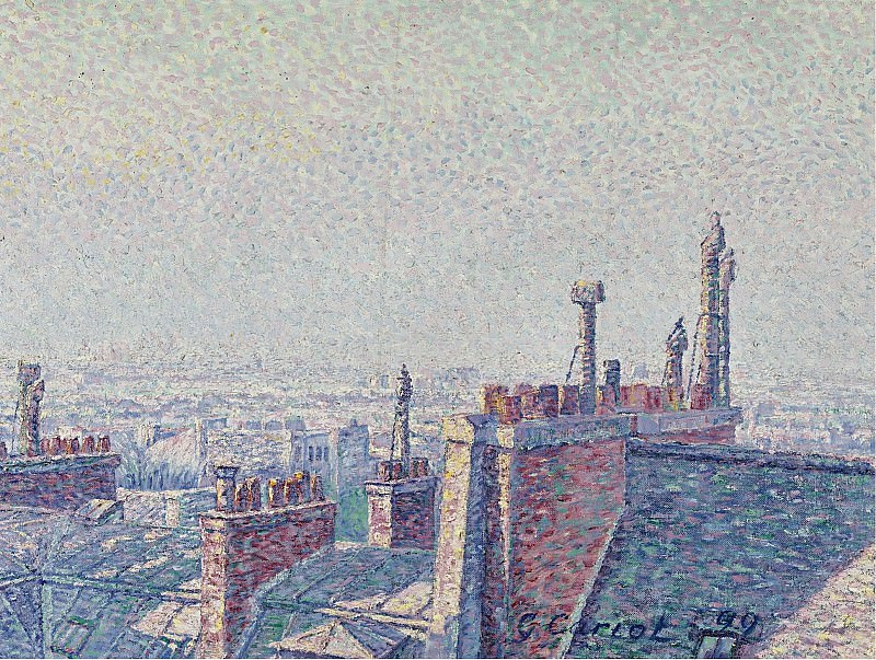 Gustave Cariot - The Roofs of Paris, 1899. Картины с аукционов Sotheby's