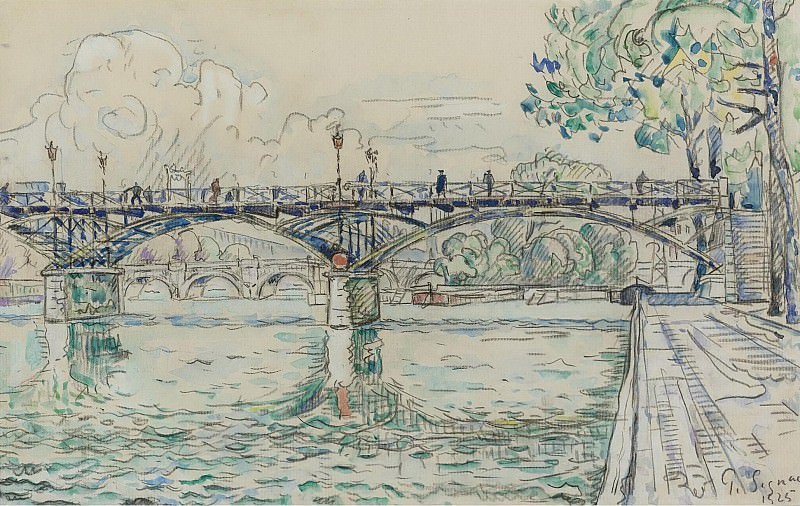 Paul Signac - The Bridge of Arts, 1925. Sotheby's
