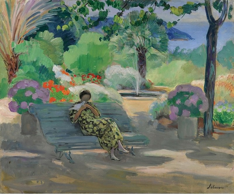 Henri Lebasque - Young Woman with a Dove, 1923. Sotheby's