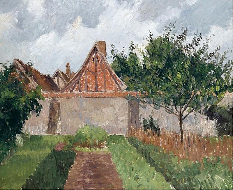 Camille Pissarro - The Garden at Eragny, 1899. Картины с аукционов Sotheby's