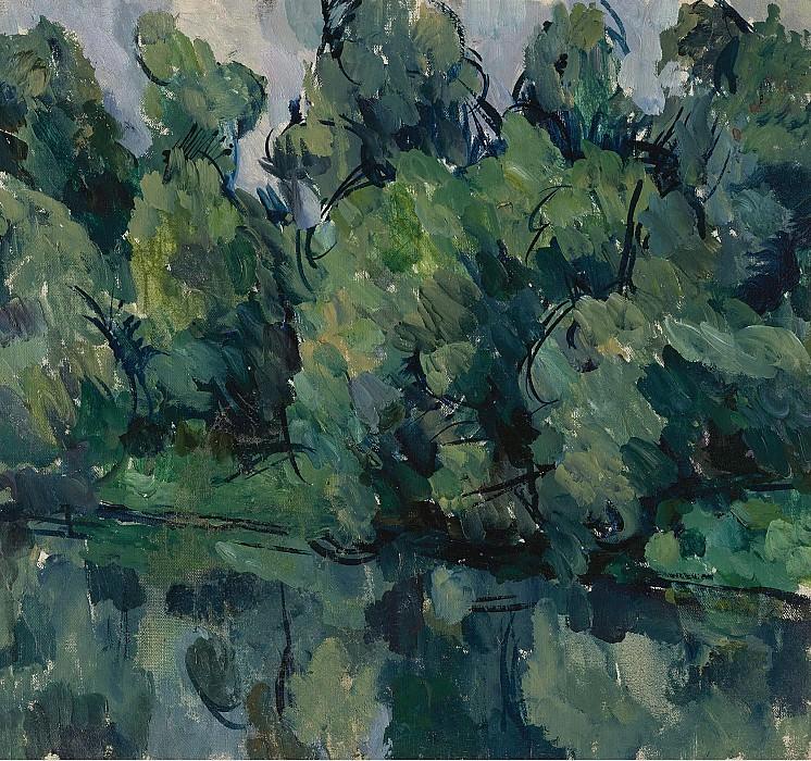 Petr Konchalovsky - Trees by a Lake, 1921. Sotheby's