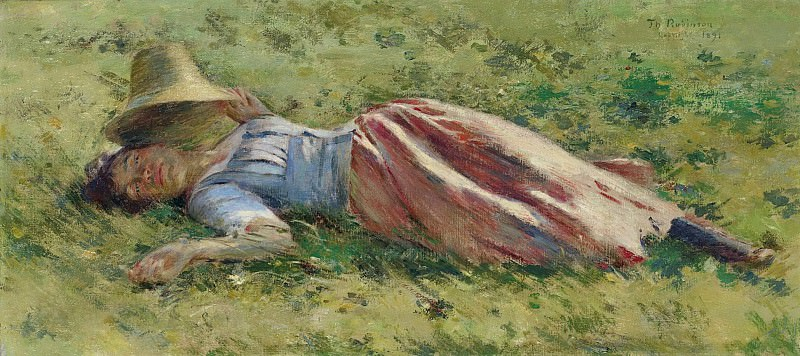 Theodore Robinson - In the Sun, 1891. Sotheby's