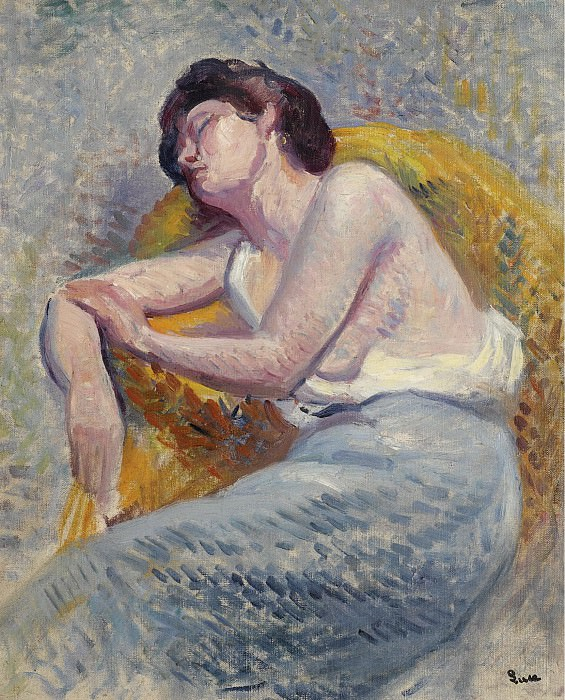 Люс, Максимильен - Sleeping Woman, 1905. Картины с аукционов Sotheby's