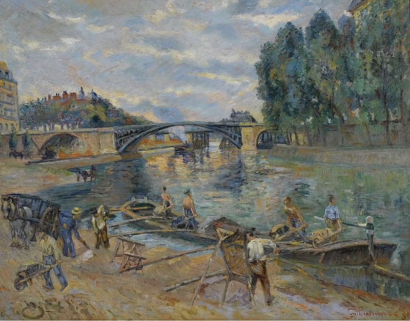 Armand Guillaumin - The Bridge of Sully, Paris, 1886. Sotheby's