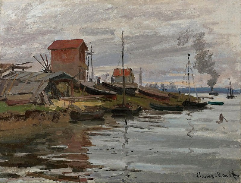 Claude Monet - The Seine at Petit-Gennevilliers, 1872. Sotheby's