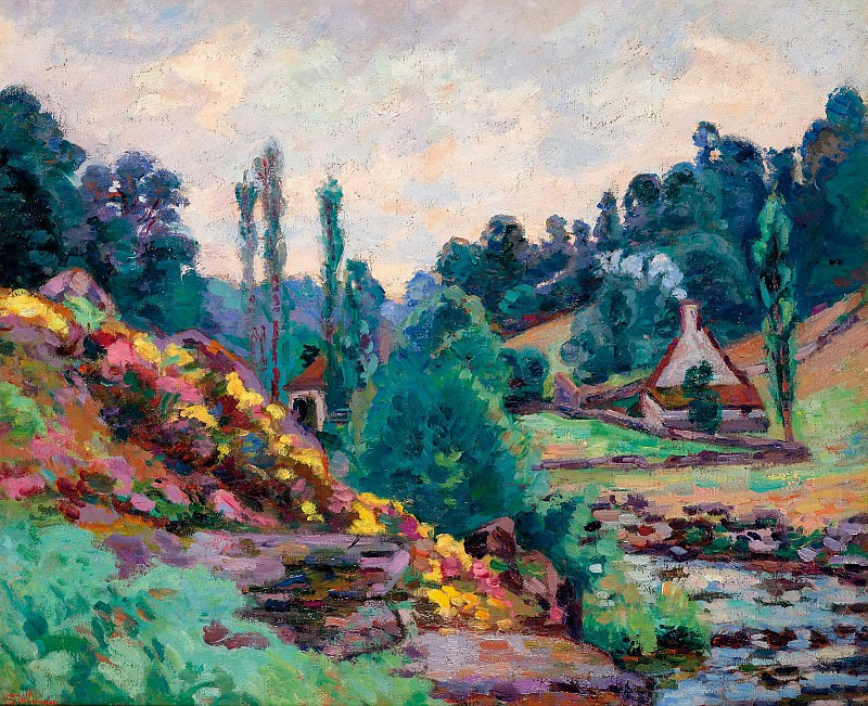 Armand Guillaumin - The Mill of Jonon Creuse, 1906. Sotheby's