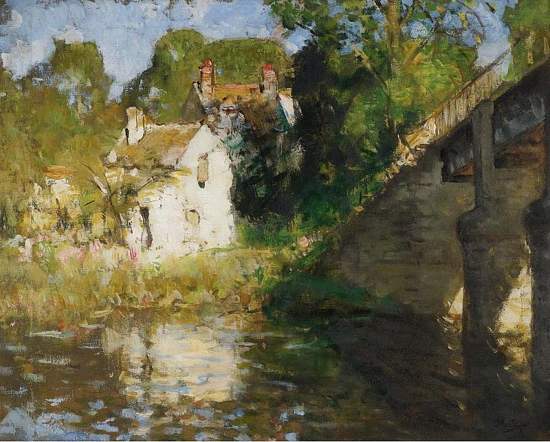 Монтезин, Пьер Эжен - The Bridge 01. Картины с аукционов Sotheby's