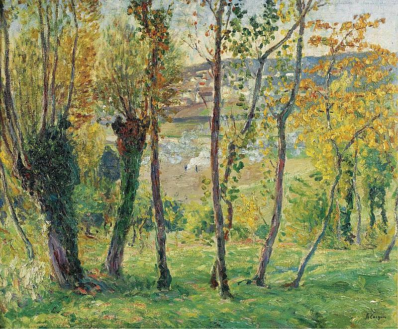 Henri Lebasque - The Outskirts of Montevrain, 1900-05. Картины с аукционов Sotheby's
