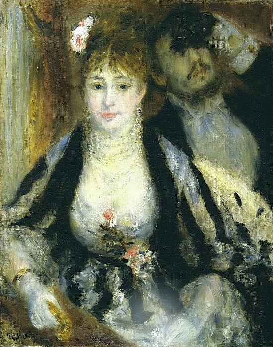 Pierre Auguste Renoir - The Theater Box, 1874. Sotheby's